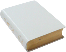 Vigselbibeln konstskinn vit