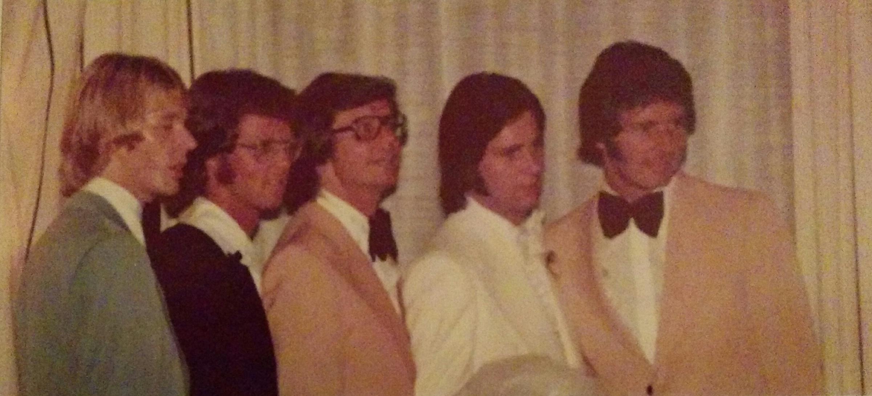 Bröderna Samuelsons tillsammans. Från vänster: Olle, Runo, Rolf Jard & Kjell